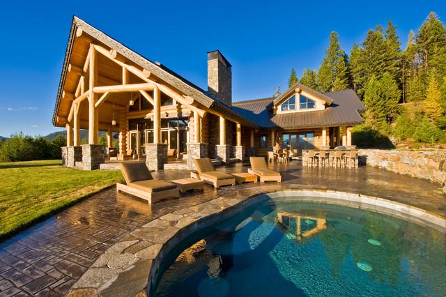Okanagan log home rustic exterior calgary by for Home decor kelowna
