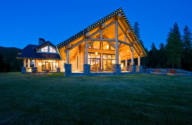 Okanagan Log Home Rustic Exterior Calgary By