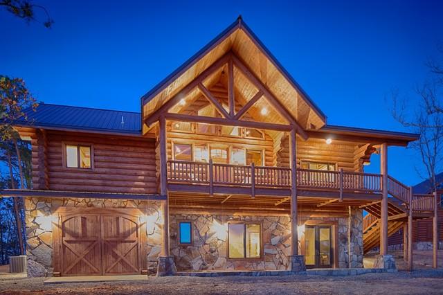 Oklahoma Log Home Rustic Exterior Dallas By Rustic Elegance Home Design