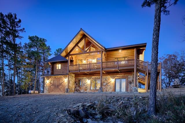 Oklahoma Log Home Rustic Exterior Dallas By Rustic
