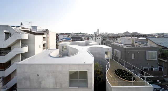 Okurayama Apartments contemporary-exterior