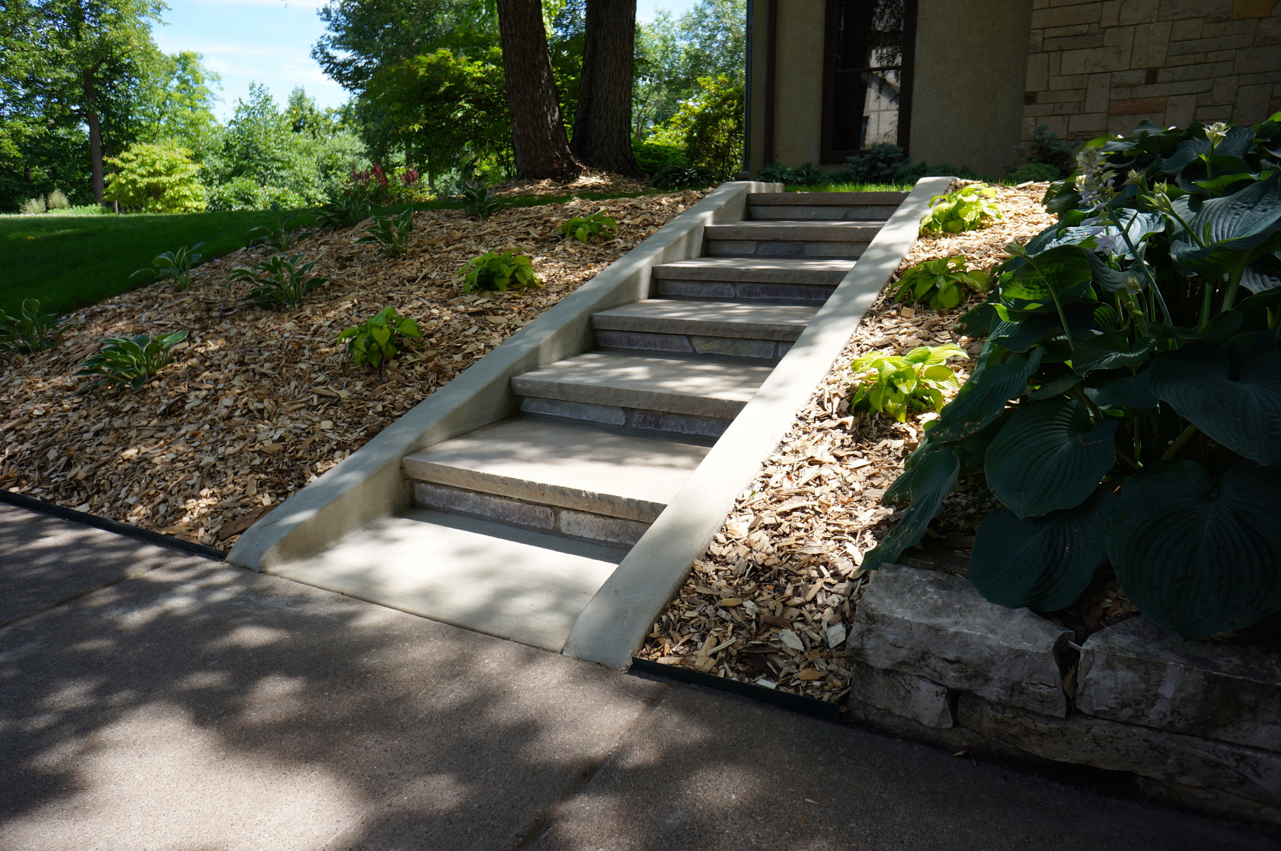 Old-fashioned Landscape Stairway