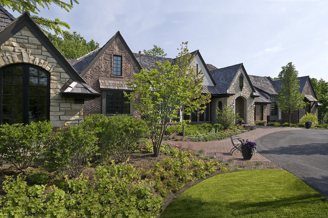 Stucco Exterior Ranch old world brick, stone and stucco transitional ranch in