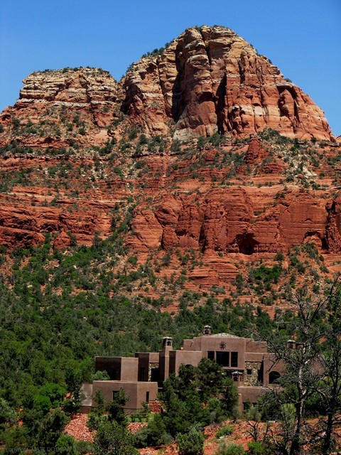 Old world style croft residence sedona arizona rustic for Sedona architects