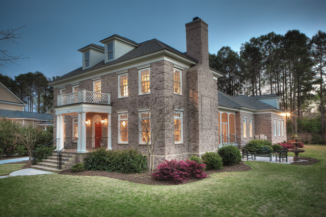 Olde Park Mount Pleasant Custom Brick Home - Traditional - Exterior ...