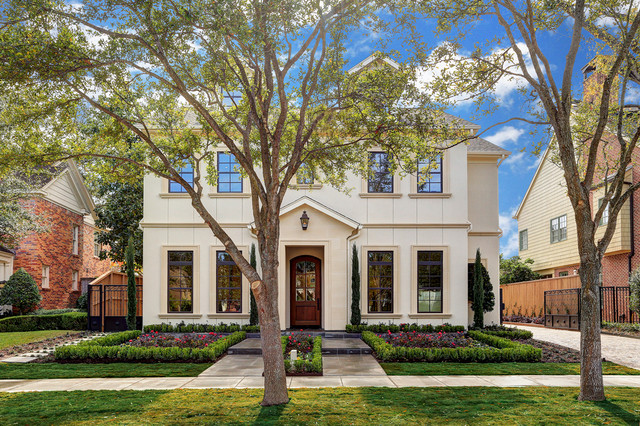 Olympia front elevation traditional exterior houston for Martin wade landscape architects