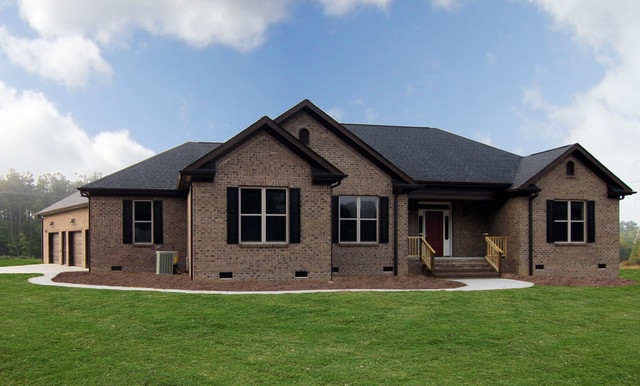 One Story Brick Homes Raleigh Transitional Exterior