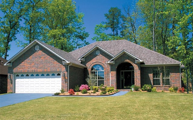 One Story Home Plans Contemporary Exterior St Louis By House Plans And More