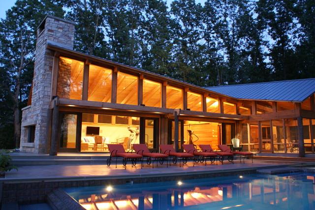 open plan contemporary-exterior
