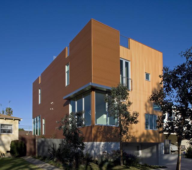 Orange in LA contemporary-exterior