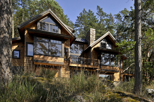 Orcas Island Residence rustic-exterior