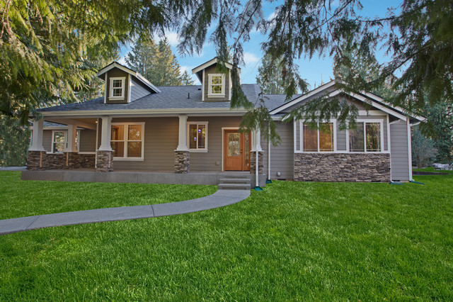 Orman custom rambler craftsman exterior seattle by for Rambler homes for sale