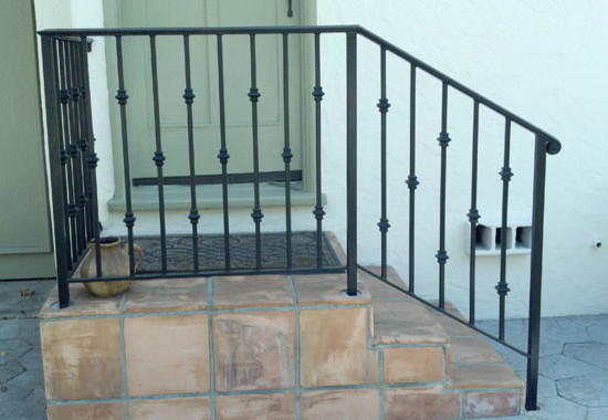 Ornamental Iron Handrails Traditional Staircase Los