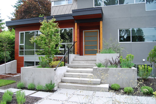 modern exterior by Portal Design Inc
