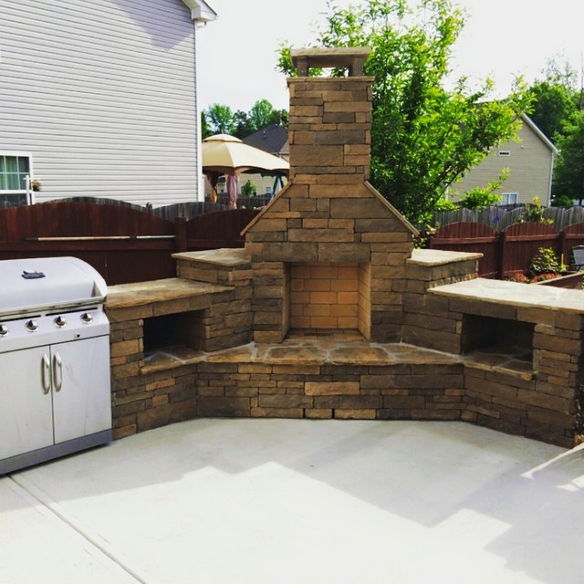 Out Door Kitchen Grills Fireplaces Southwestern