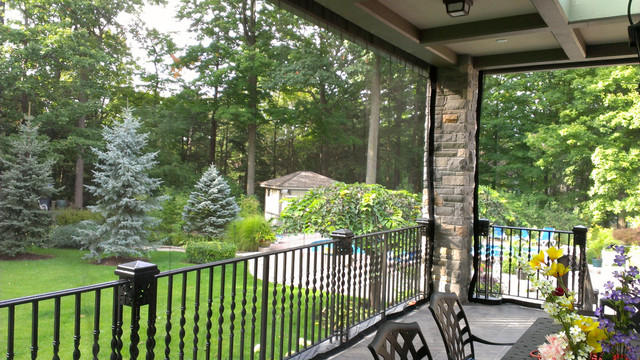 Eclectic Porch Toronto Outdoor Curtains/Mosquito Drapes/Porch Screens eclectic-exterior
