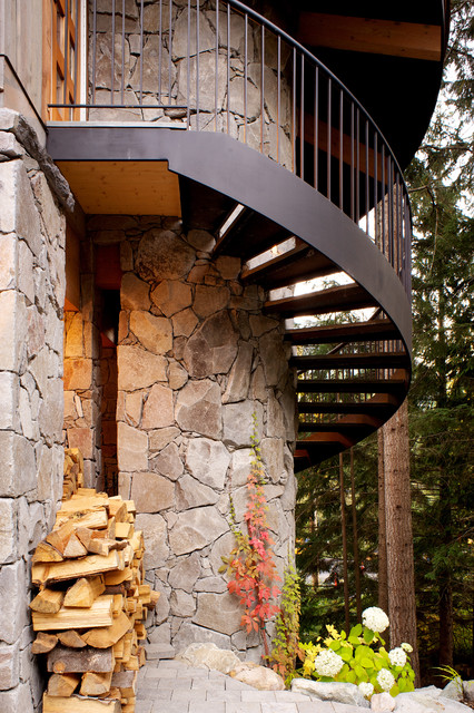 Outdoor Fireplace contemporary-exterior