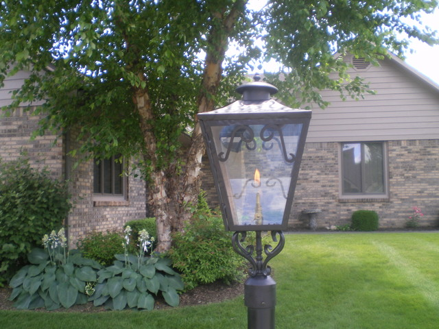 Outdoor Gas Light Traditional Exterior Indianapolis