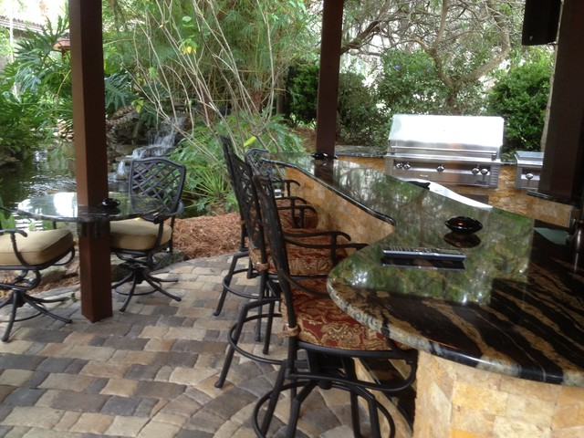 Outdoor Kitchen Modern Exterior Tampa By Complete Property Resources Inc