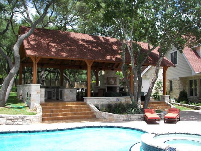 Outdoor kitchen / Living Cabana contemporary-exterior