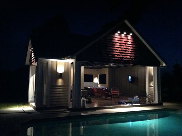 Pool House Designs With Outdoor Kitchen granite counter tops Pool House Outdoor Kitchen Designs