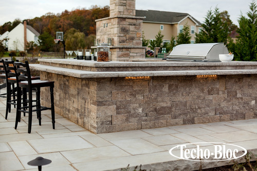 Contemporary Exterior By Pen Argyl Stone Pavers Concrete Techo Bloc