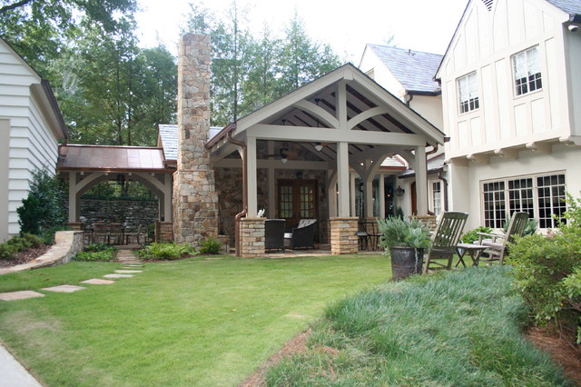 Outdoor loggia and covered spaces traditional exterior for Garden loggia designs