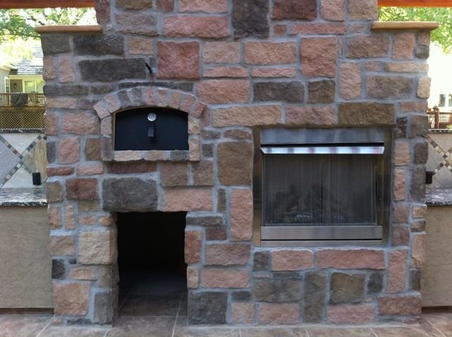 Outdoor Pizza Oven Kit Built In With Fireplace