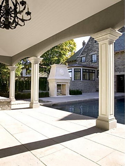 Outdoor Square Stone Columns Traditional Exterior