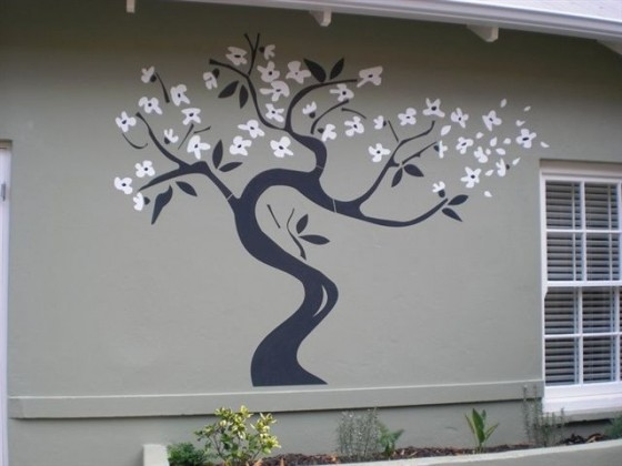 Outside wall decals