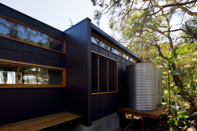 Ozone house contemporary exterior sydney by matt elkan architect - Matt exterior paint image ...