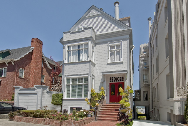 Pacific Heights home rejuvenation traditional exterior