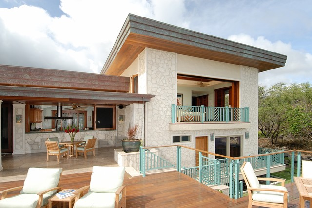 tropical exterior by Archipelago Hawaii, refined island designs