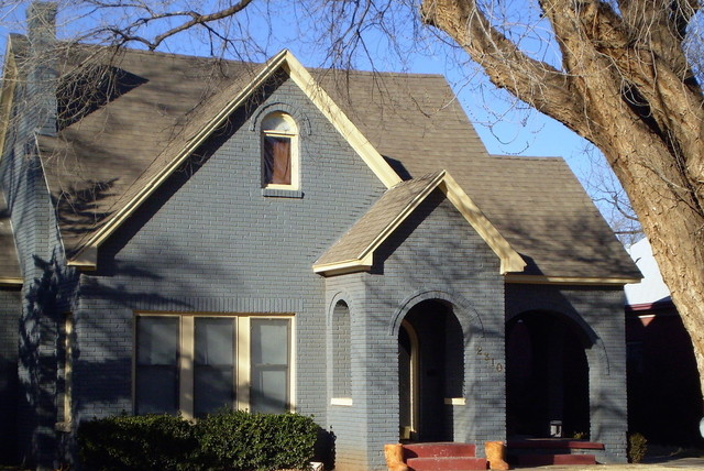 Painted Brick Tutor Style Craftsman Exterior Dallas By Pro Tech Painting Drywall
