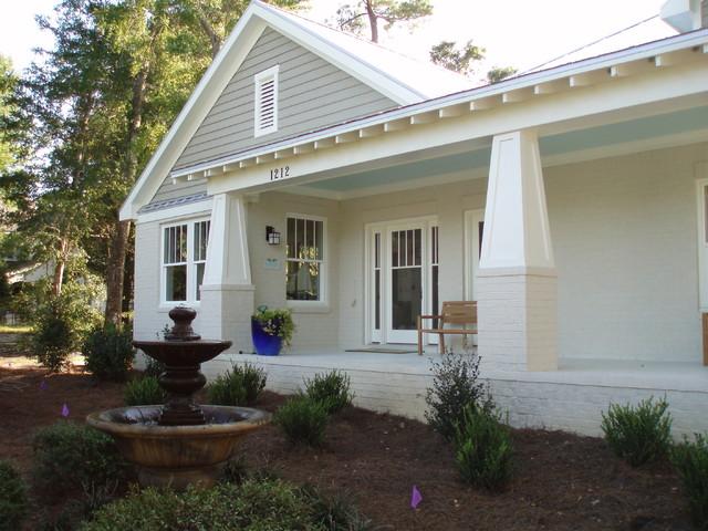 Painted Concrete Front Porch