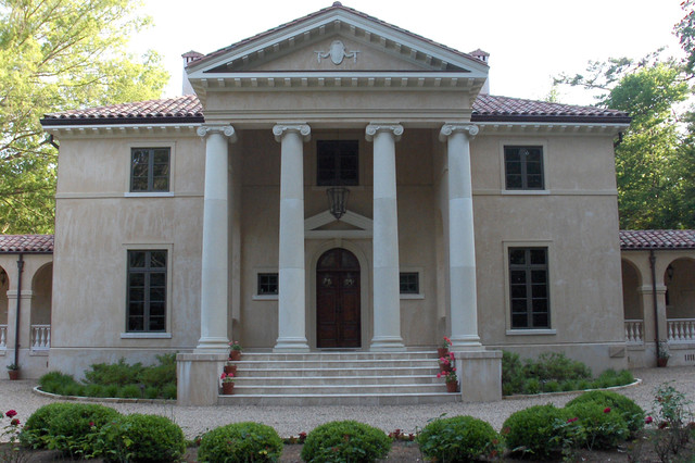 Palladian Villa Traditional Exterior Charlotte By