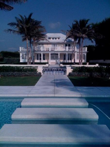 Palm Beach Home Renovation & Cabana contemporary-exterior