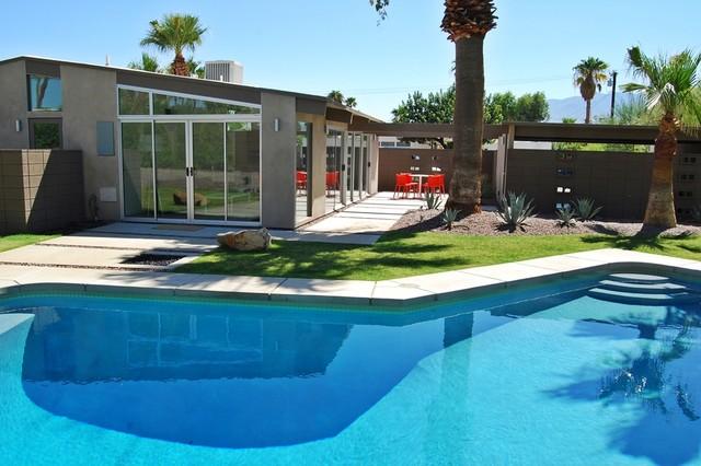 Palm Springs Mid Century Modern Remodel Rear Elevation