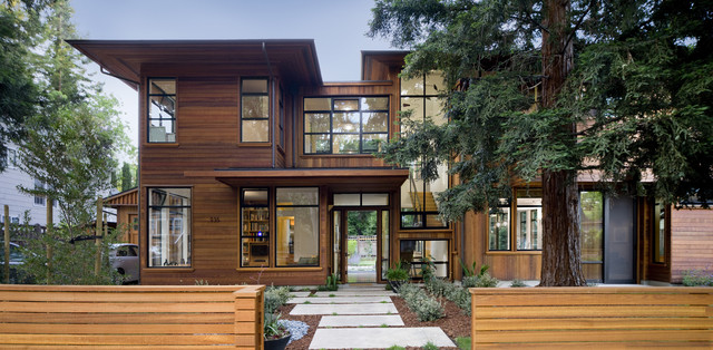 Palo Alto Green Point Rated House contemporary-exterior