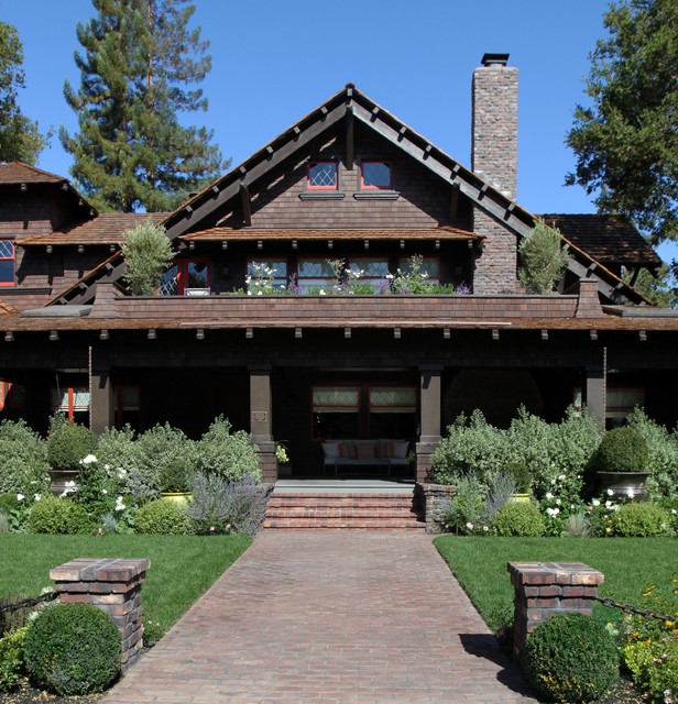 Palo alto historic home craftsman exterior san for Craftsman style homes for sale in california