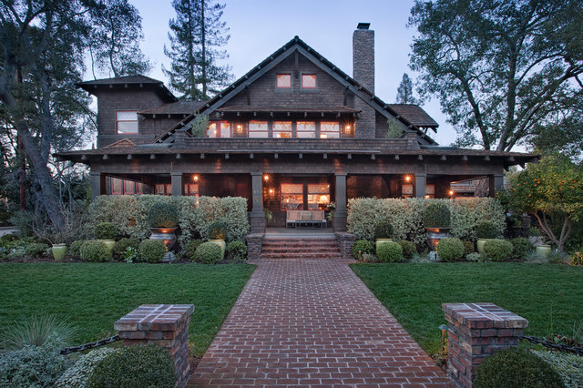 Palo Alto Historic Renovation Craftsman Exterior San