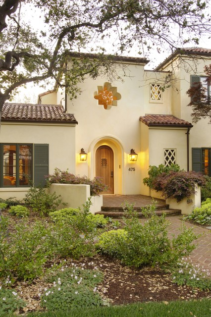 Palo alto mediterranean custom home mediterranean exterior for What color roof should i get for my house