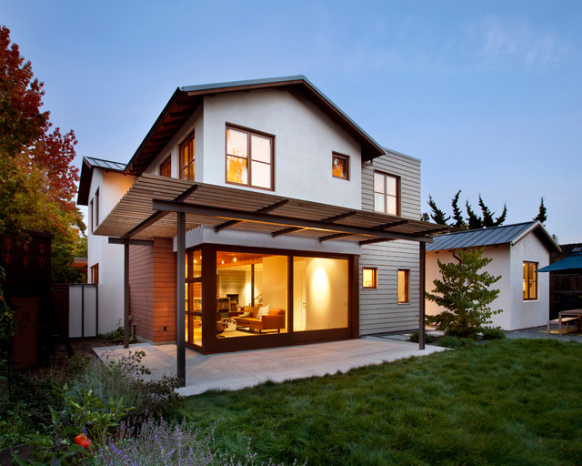 Palo alto residence transitional exterior san Architectural home builders