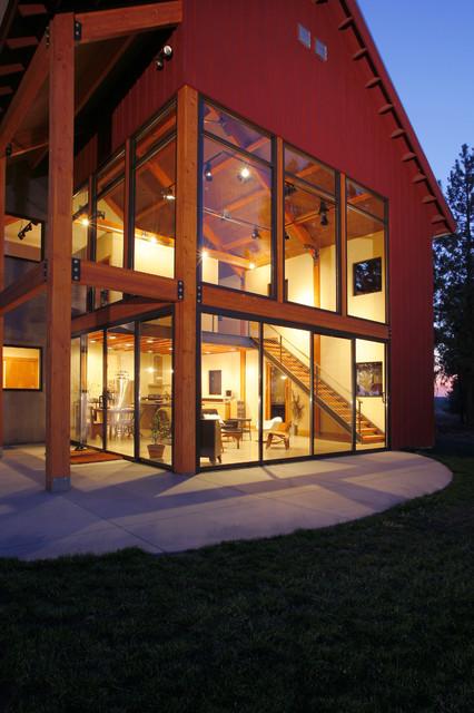 Palouse Residence modern-exterior