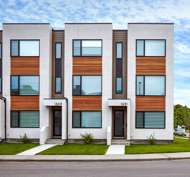 Parcside Townhomes Modern Exterior Calgary By Inertia Corporation