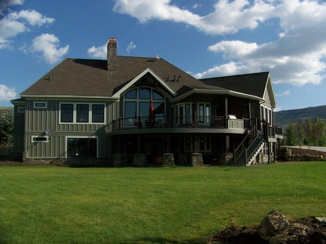 Park City Area Custom Home Rustic Exterior Salt Lake