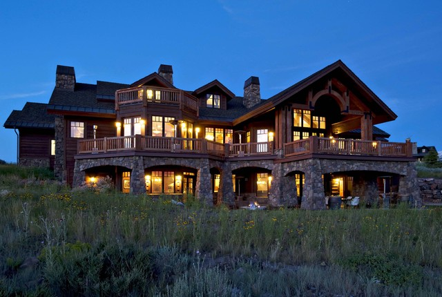 Park City, Utah Mountain Estate by Markay Johnson Construction traditional-exterior