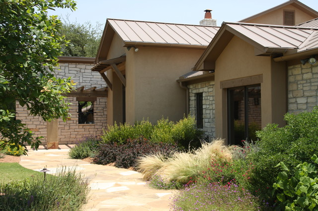 Front Elevation Metal Roof : Partial front elevation mediterranean exterior