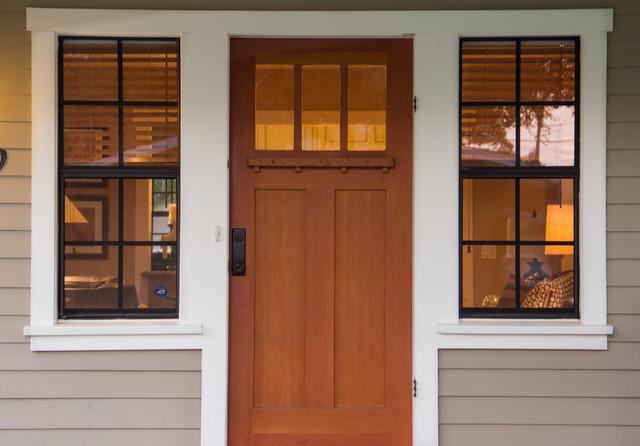 Pasadena Craftsman Bungalow Traditional Exterior Los Angeles Gustav Stickley Reproduction Front Door By Tm Cobb