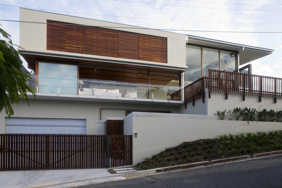 Inspiration for a contemporary exterior home remodel in Brisbane